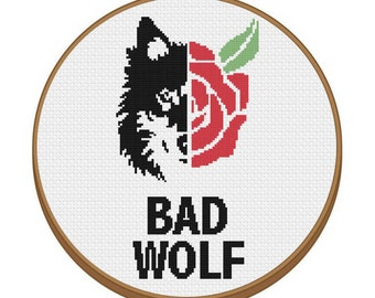 DR.WHO Bad Wolf Cross Stitch Pattern - Instant Download Pdf