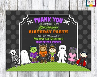 Halloween Party - Trick or Treat - Personalized Digital Thank You Card 4x6 or 5x7 jpg or pdf