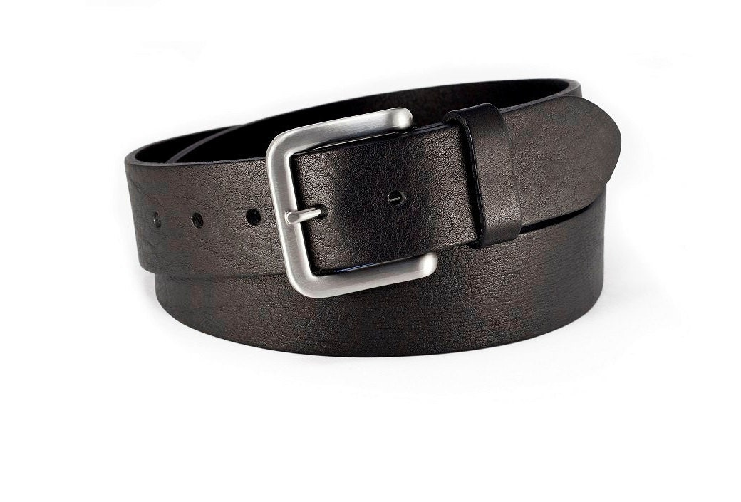 black leather belt thick and soft leather by