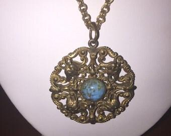Vintage Aqua Pendant
