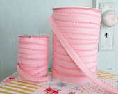 Clearance WIDE WIDTH Light Pink Crochet Edge Double Fold Bias Tape  (No. WW43)