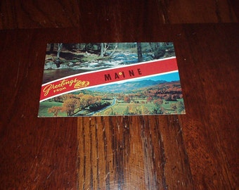 1950-60's MAINE Greetings Scenery Photo POSTCARD By Ruby's Enterprise #K16885 Made in USA - Unused, Rare, Collectible