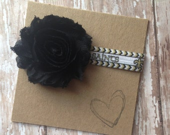 New Orleans Saints Shabby Flower Headband