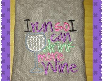 Wine dish towel