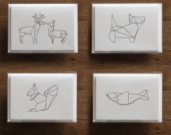 Origami Notecards - Set of 4