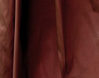 "DELHI Silk- 60"" 100% silk "" Pecan"" Dark, Rusty, Red Shade"