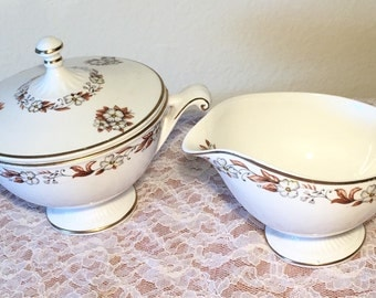 "Vintage Harmony House ""Fairfax"" Sugar and Creamer Set"