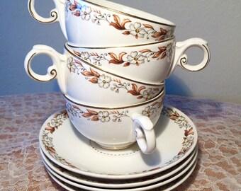 "8 PC Harmony House ""Fairfax"" China Tea Cup Set"