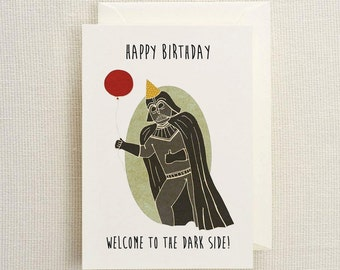Darth Vador Birthday Card