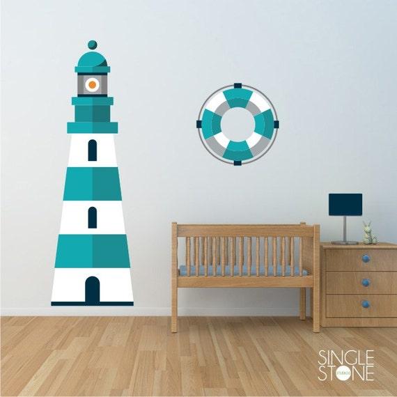 lighthouse wall decal nautical nursery vinyl wall sticker