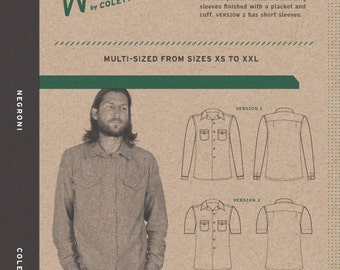 Walden by Colette Patterns Negroni Shirt Pattern