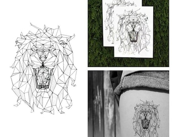 The King - Lion Temporary Tattoo (Set of 2)