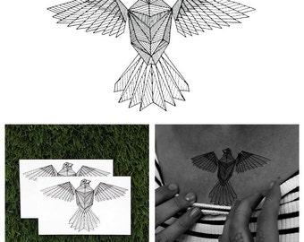 Early Bird - Animal Temporary Tattoo (Set of 2)