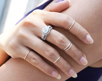 Silver Knuckle rings / gold / Above Knuckle Ring / Silver Plated / Gold Plated // Dainty Rings