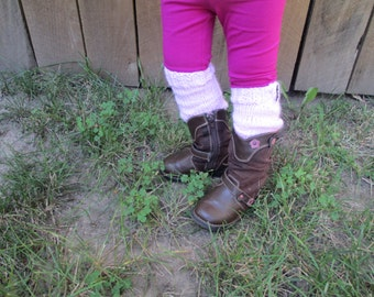 Little Leg Warmers in pink - available in infant, toddler, and child sizes