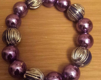 Metallic purple bracelet