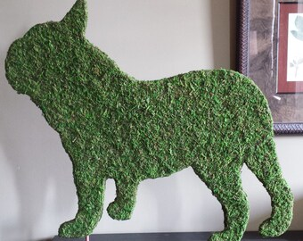 Standing French Bulldog Topiary Silhouette.
