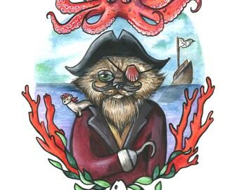 Captain Barnacle Print