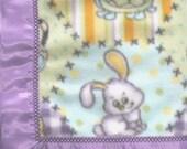 Baby Blanket | Fleece Baby Blanket | Animal Patch Work Fleece Blanket | Purple Toddler Blanket  | 42 x 42 Inch | FREE SHIPPING USA