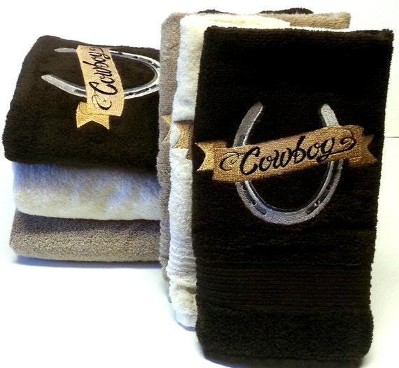 Bath Towels Sale: Bath Towels On Sale Cowboy Horseshoe Bathroom Towel Sets