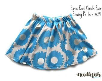 KIDS CIRCLE SKIRT Sewing Pattern - Toddler Skirt Sewing Pattern - Easy Sewing Pattern - Easy Skirt Sewing Pattern - Kids Skirt Pattern