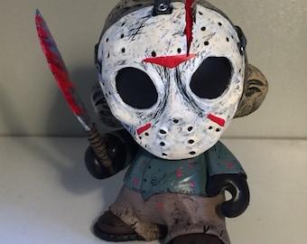"4"" Kidrobot Mini Munny Custom Friday the 13th ""Jason Voorhees"""
