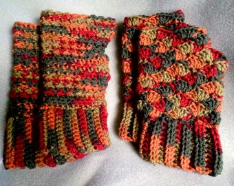 Fingerless Mittens Fingerless Mitts Fingerless Gloves Wristwarmers Fall Colors Ladies Accessories Winter Fashion