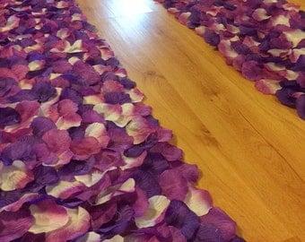 Purple wedding aisle runner border, custom