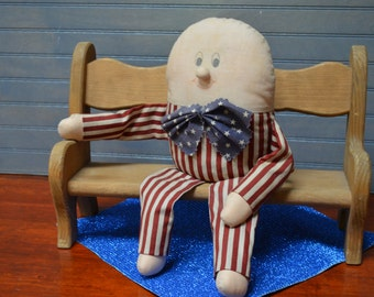 Handmade Vintage Uncle Sam USA Patriotiic Doll Previously Loved Uncle Sam Stuffed Uncle Sam Vintage Patriotic Display I Ship Worldwide