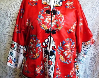 vintage Chinese embroidered jacket 1960