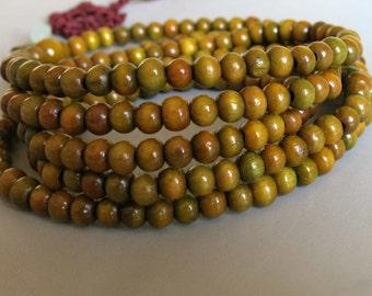 216pcs Green Sandalwood Beads Prayer Beads Japa Mala 6mm - A453