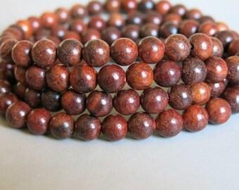 108pcs Red Rosewood Wood Beads Prayer Beads Japa Mala 8mm - A466