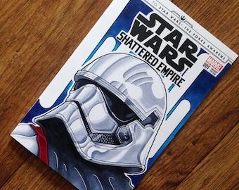 Star Wars Shattered Empire Variant sketch CAPTAIN PHASMA