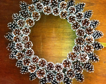 Snow tipped Pine Cone Wreath