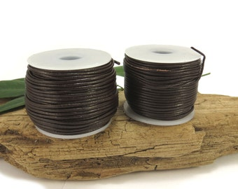 Brown Leather Cord, 1mm Leather Cord, 5 Yards Leather Cord, Colored Leather Cord, Leather Necklace Cord, Item 645ct