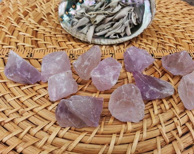 Lilac Quartz ~ 1 Medium/large Reiki infused rough piece approx 1.5 -1.75 inches