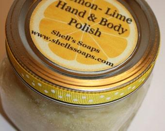 16 oz Organic Lemon Lime Coconut Oil Sugar Scrub