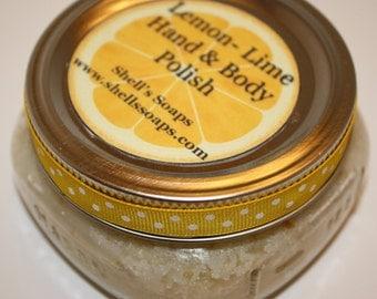 8 oz Organic Lemon Lime Coconut Oil Sugar Scrub