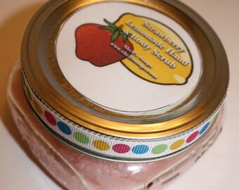 8 oz Organic Strawberry Lemonade Sugar Hand and Body Scrub