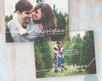 Your Studio Christmas Card Template - Photoshop template - AC026 - INSTANT DOWNLOAD