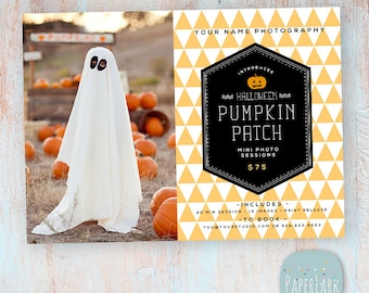 Halloween Photography Marketing Board - Mini Sessions - Photoshop Template - ID006 - INSTANT Download