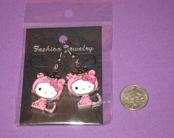 Cat Charm Earrings - B