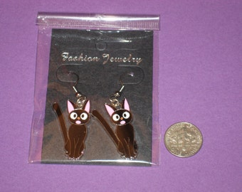 Cat Charm Earrings - C