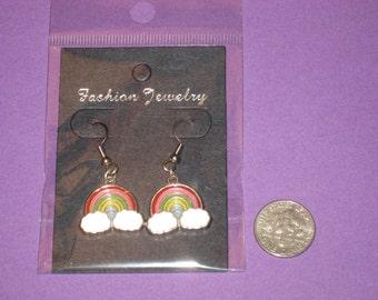 Rainbow Charm Earrings - A