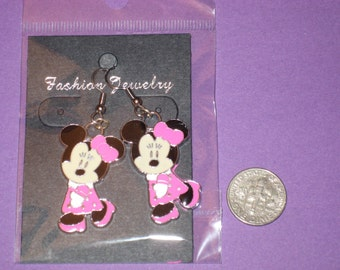 Minnie Charm Earrings - E