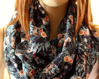 Poppy, Gazelle, Tiger, Rose Cotton scarf, gift ideas, trending items, scarves, fashion, woman accessories, accessories , back to school