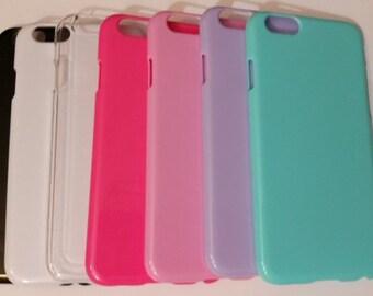 1pc. light PURPLE Iphone 6 case,4.7inch phone cases,blank case,DIY,Deco,blank Iphone case