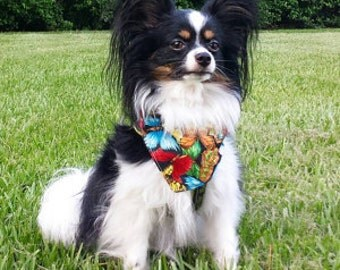 Tie-on Dog Bandana Butterflies - XSmall/Small/Medium