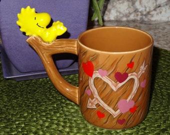 Vintage Teleflora Woodstock Mug / Woodstock Mug / Vintage Mug / I Love You Mug. / Valentine Mug / Valentine's Day Gift