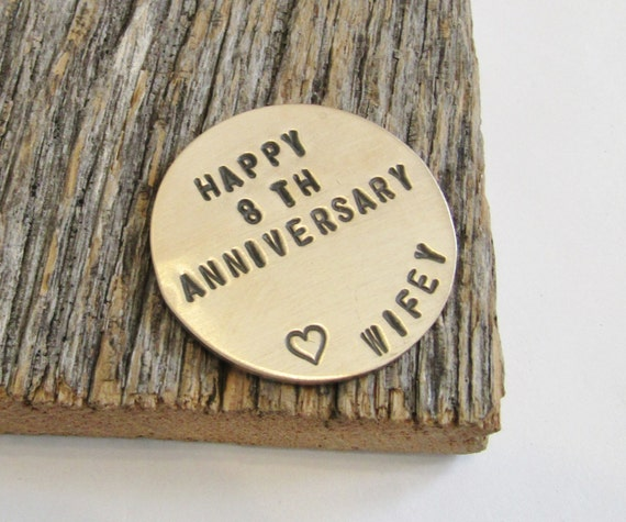 Gift Ideas For 8th Wedding Anniversary: Anniversary Golf Ball Marker For Husband 8th Anniversary Gift